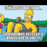 CONGRESSO NACIONAL...SÓ QUEREMOS RECESSO..O BRASIL QUE SE LIXE !!!