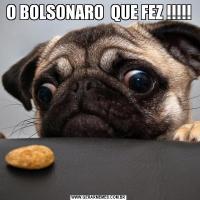 O BOLSONARO  QUE FEZ !!!!!