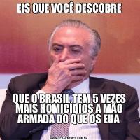 EIS QUE VOCÊ DESCOBREQUE O BRASIL TEM 5 VEZES MAIS HOMICÍDIOS A MÃO ARMADA DO QUE OS EUA