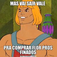 MAS VAI SAIR VALE PRA COMPRAR FLOR PROS FINADOS