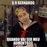D.R BERNARDOQUANDO VAI SER MEU AUMENTO??