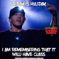 friday is holiday i am remembering that it willi have class