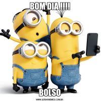 BOM DIA !!!!BOLSO