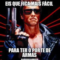 EIS QUE FICA MAIS FÁCIL PARA TER O PORTE DE ARMAS