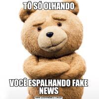 TÔ SÓ OLHANDOVOCÊ ESPALHANDO FAKE NEWS