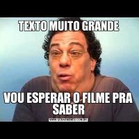 TEXTO MUITO GRANDEVOU ESPERAR O FILME PRA SABER