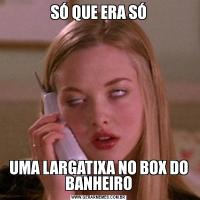 SÓ QUE ERA SÓUMA LARGATIXA NO BOX DO BANHEIRO