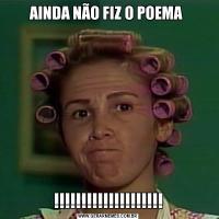 AINDA NÃO FIZ O POEMA !!!!!!!!!!!!!!!!!!!!