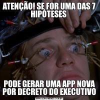 ATENÇÃO! SE FOR UMA DAS 7 HIPÓTESES PODE GERAR UMA APP NOVA POR DECRETO DO EXECUTIVO