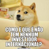 COMO É QUE É,NÃO TEM NENHUM INVESTIDOR INTERNACIONAL?
