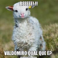 BEEEEE! !!VALDOMIRO QUAL QUE É?