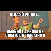 OLHA SÓ WODDY....AMANHÃ É A PROVA DE DIREITO DO TRABALHO II