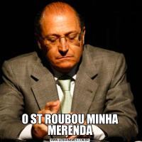 O ST ROUBOU MINHA MERENDA
