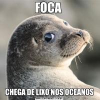 FOCA CHEGA DE LIXO NOS OCEANOS