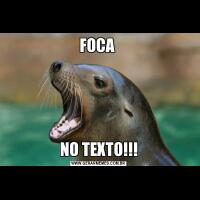 FOCA NO TEXTO!!!