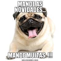 MANDE AS NOVIDADES...MANDE MUITAS. !!!