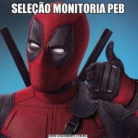 SELEÇÃO MONITORIA PEB