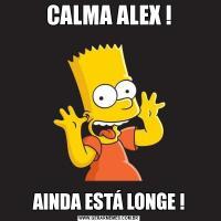 CALMA ALEX !AINDA ESTÁ LONGE !