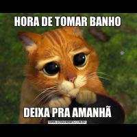 HORA DE TOMAR BANHODEIXA PRA AMANHÃ