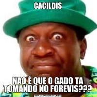CACILDISNAO É QUE O GADO TA TOMANDO NO FOREVIS???