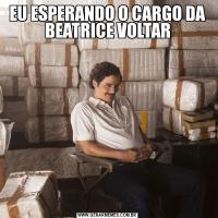 EU ESPERANDO O CARGO DA BEATRICE VOLTAR
