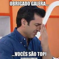 OBRIGADO GALERA......VOCÊS SÃO TOP!