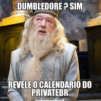 DUMBLEDORE ? SIMREVELE O CALENDARIO DO PRIVATEBR