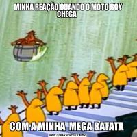 MINHA REAÇÃO QUANDO O MOTO BOY CHEGA COM A MINHA  MEGA BATATA