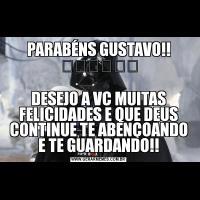 PARABÉNS GUSTAVO!! ⚽️⚽️⚽️DESEJO A VC MUITAS FELICIDADES E QUE DEUS CONTINUE TE ABENÇOANDO E TE GUARDANDO!!