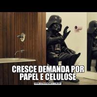 CRESCE DEMANDA POR PAPEL E CELULOSE