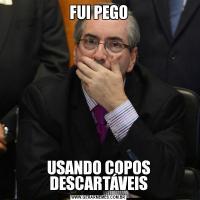 FUI PEGOUSANDO COPOS DESCARTÁVEIS