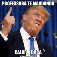 PROFESSORA TE MANDANDOCALAR A BOCA