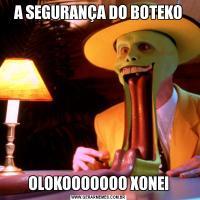 A SEGURANÇA DO BOTEKOOLOKOOOOOOO XONEI