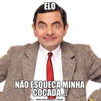 ELONÃO ESQUEÇA MINHA COCADA ...