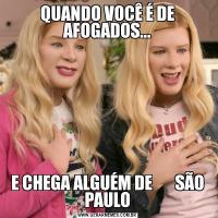 QUANDO VOCÊ É DE AFOGADOS...E CHEGA ALGUÉM DE       SÃO PAULO