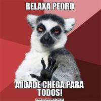 RELAXA PEDROA IDADE CHEGA PARA TODOS!