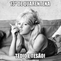 13º DE QUARENTENATÉDIO E TESÃO!