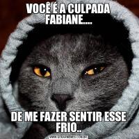 VOCÊ É A CULPADA FABIANE....DE ME FAZER SENTIR ESSE FRIO..