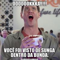 OOOOOOKKKAY!!!VOCÊ FOI VISTO DE SUNGA DENTRO DA BUNDA.