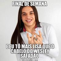 FINAL DE SEMANA E EU TÔ MAIS LISA QUE O CABELO DO WESLEY SAFADÃO