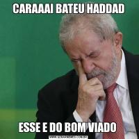 CARAAAI BATEU HADDADESSE E DO BOM VIADO