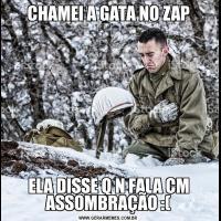 CHAMEI A GATA NO ZAPELA DISSE Q N FALA CM ASSOMBRAÇÃO :(