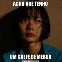 ACHO QUE TENHOUM CHEFE DE MERDA