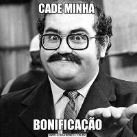 CADE MINHA BONIFICAÇÃO
