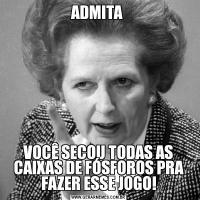 ADMITA VOCÊ SECOU TODAS AS CAIXAS DE FÓSFOROS PRA FAZER ESSE JOGO!
