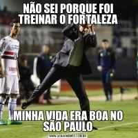 NÃO SEI PORQUE FOI TREINAR O FORTALEZAMINHA VIDA ERA BOA NO SÃO PAULO