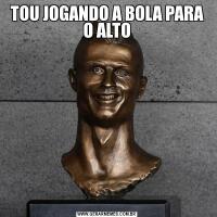 TOU JOGANDO A BOLA PARA O ALTO