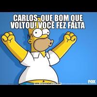 CARLOS, QUE BOM QUE VOLTOU! VOCÊ FEZ FALTA