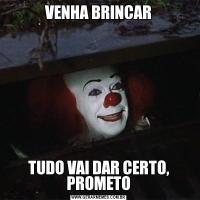 VENHA BRINCARTUDO VAI DAR CERTO, PROMETO
