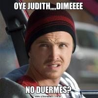 OYE JUDITH,,,,DIMEEEENO DUERMES?
